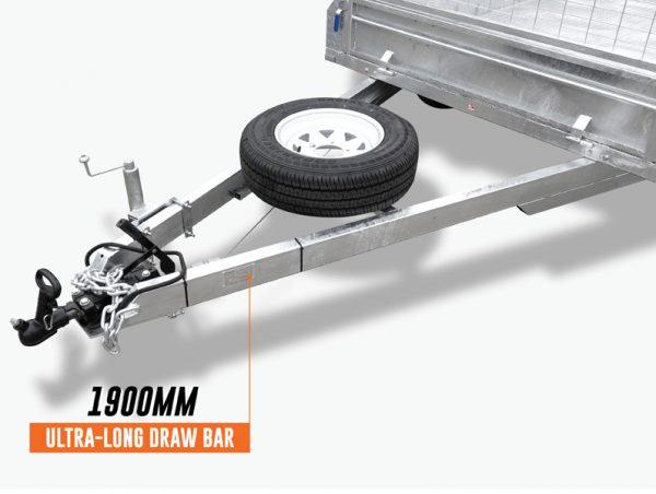 10 x 5 Tandem Trailer, Dual Axle, Heavy Duty, 450mm High Side