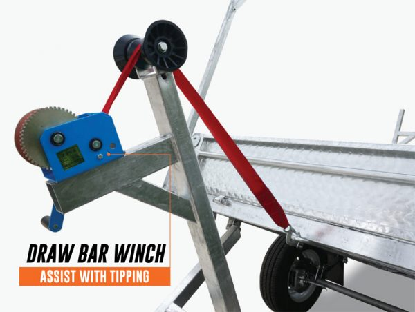 8 x 5 Heavy Duty Braked Tipping Trailer 1400kg ATM