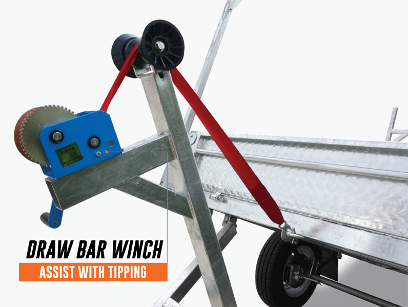 8 x 5 Heavy Duty Braked Tipping Trailer 1400kg ATM