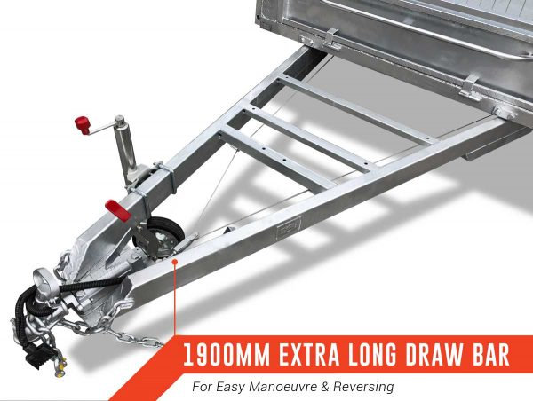 10 x 5 Tandem Trailer, Dual Axle, Heavy Duty, 300mm High Side