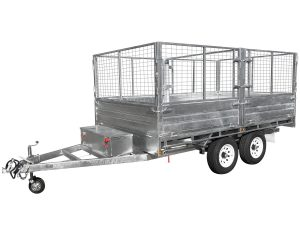 12x7 Flat Top Hydraulic Tipping Trailer 3500kg ATM