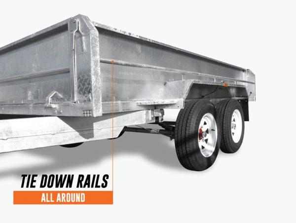 10 x 6 Tandem Trailer, Dual Axle, Heavy Duty, 450mm High Side