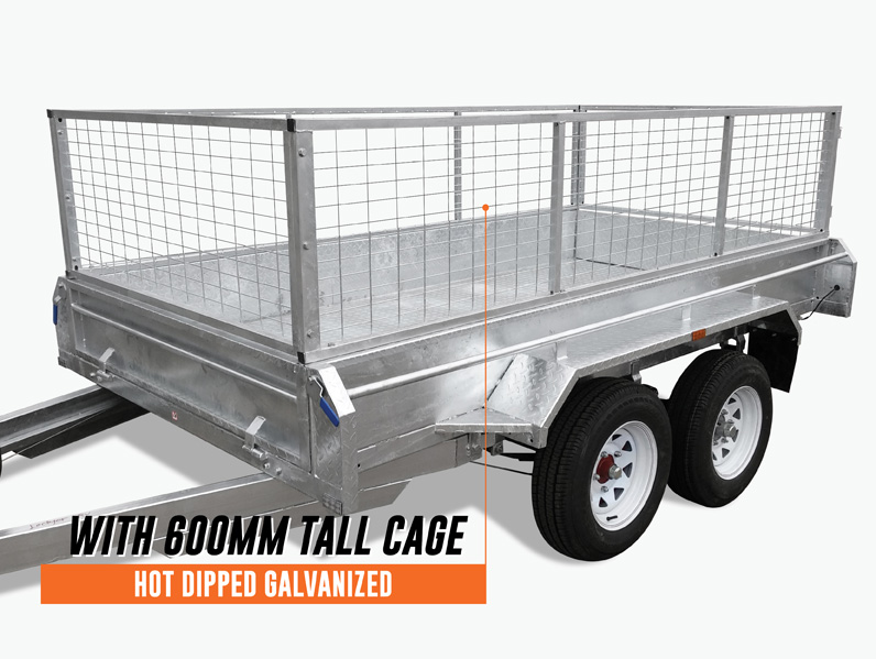 10 x 6 Tandem Trailer, Dual Axle, Heavy Duty, 450mm High Side