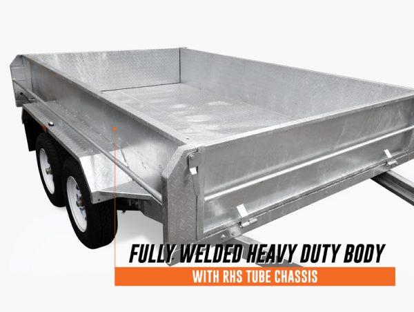 10 x 6 Tandem Trailer, Dual Axle, Heavy Duty, 300mm High Side