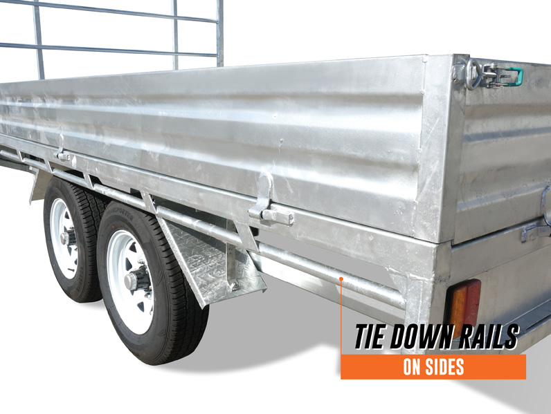 12 x 7 Flat Bed Trailer, Dual Axle, Heavy Duty, 3500kg ATM