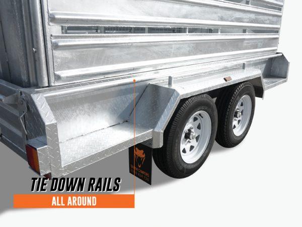 10 x 6 Cattle/Livestock Crate Trailer, Dual Axle, Heavy Duty, 3500kg ATM