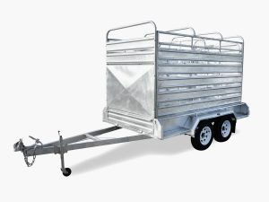 10 x 6 Cattle/Livestock Crate Trailer, Dual Axle, Heavy Duty, 3500kg ATM