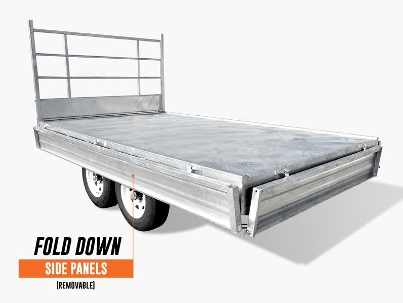 14 x 7 Flat Bed Trailer, Dual Axle, Heavy Duty, 3500kg ATM