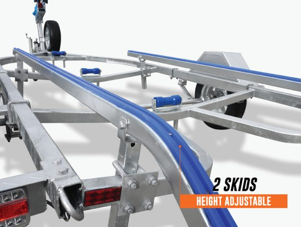 5.5m Skid Boat Trailer rated at 1400kg