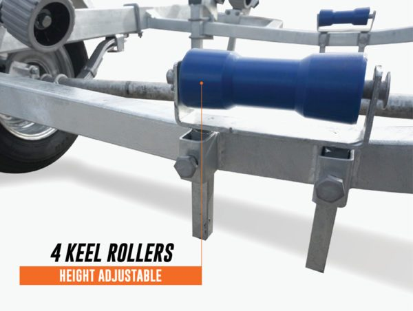 5.5m Wobble Roller Boat Trailer Suits rated at 1400kg