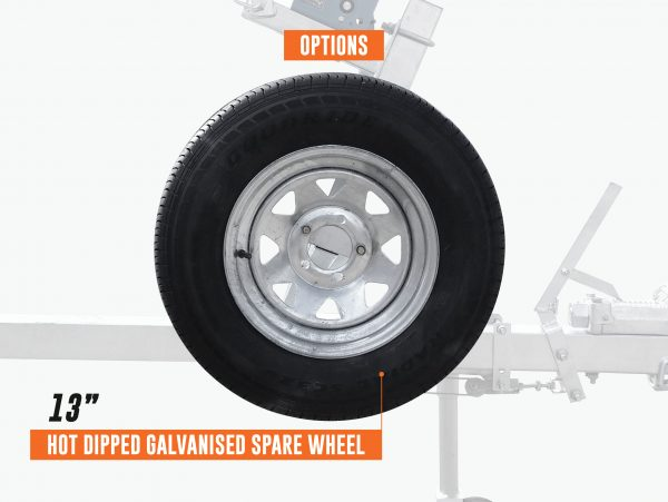 4.8m Wobble Roller Boat Trailer rated at 1200kg