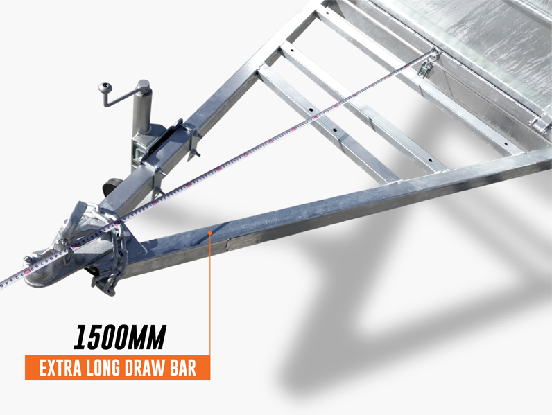 7 x 4 PREMIUM Box Tipping Trailer (Fully Welded) 300mm High Side 750kg ATM