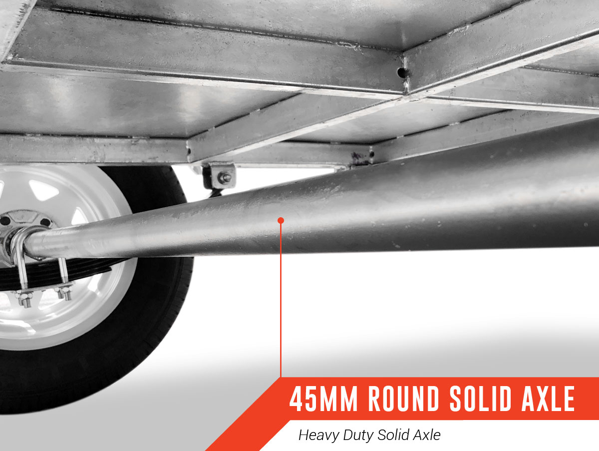 8 x 5 PREMIUM Box Tipping Trailer (Fully Welded) 300mm High Side 750kg ATM