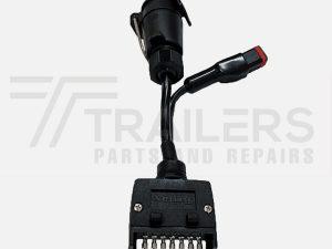 elecbrakes Adapter Flat 7 Pin to Large Round 7 Pin Socket
