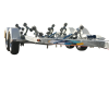 Heavy Duty Wide Body Multi Roller Tandem Boat Trailer suits Fibreglass boats up to 5.9m (FIB5.7M14TX)