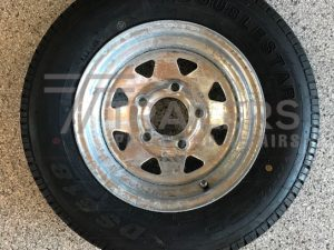 12'' Galvanised Ford Rim with 145R12 Tyre
