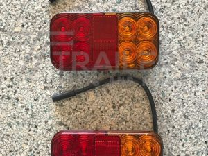 Rectangle LED Stop/Tail/Indicator/Reflector with 40cm Cable 'Plug and Play' and Rectangle LED Stop/Tail/Indicator/License/Reflector - PAIR