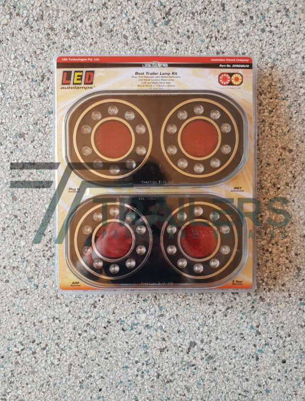 Boat Trailer Lamp Kit with 200mm cable