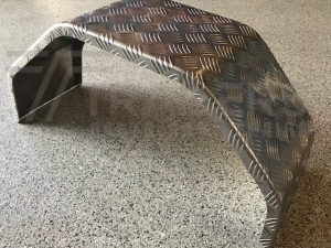 "8"" Wide Aluminium Checker Plate Mudguard"