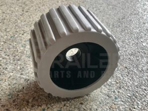 Ribbed Grey Wobble Roller 20mm Bore