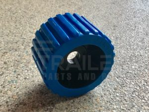 Ribbed Blue Wobble Roller 20mm Bore