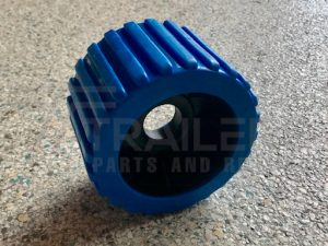 Ribbed Blue Wobble Roller 26mm Bore
