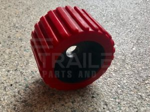 Ribbed Red Wobble Roller 20mm Bore