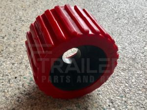 Ribbed Red Wobble Roller 26mm Bore
