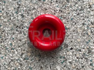 "3""  Front End Cap Solid Red 17mm Bore"