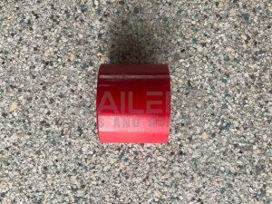 """2.5"""" Round Cap Red 17mm Bore"""