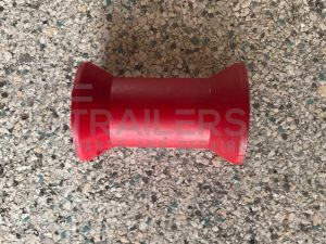 "4"" Keel Roller Red 17mm Bore"