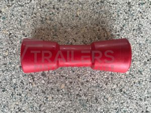 "8"" Concave Roller Red 17mm Bore"