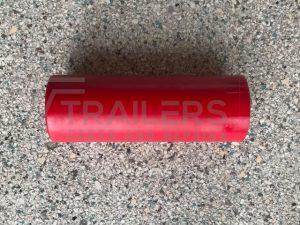 "8"" Flat Bilge Roller Ø 72mm Red 17mm Bore"