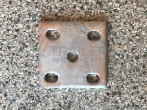 Fish Plate 8mm Galvanised suit 45mm Spring and 1/2'' U Bolt