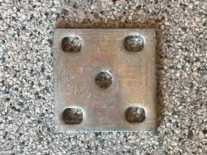 Fish Plate 10mm Galvanised suit 60mm Spring and 5/8'' U Bolt