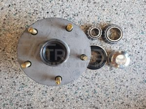 "Galvanised 6"" Lazy Hub, Holden Stud Pattern with Ford/SL Bearings"