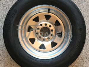 13'' Galvanised Multi Fit Rim suit HT and Ford wheel with 155 Light Truck Tyre (155R13LT)