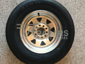 13'' Galvanised Multi Fit Rim suit HT and Ford wheel with 175 Light Truck Tyres (175R13LT)