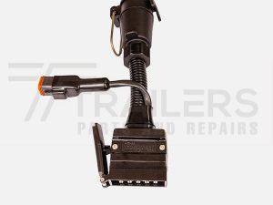 elecbrakes Adapter Flat 12 Pin to Large Round 7 Pin Socket