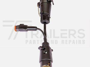 elecbrakes Adapter Large Round 7 Pin to Large Round 7 Pin Socket