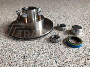 Disc Hub 9.6'' 3/4 Ventilated Ford/US 1.8 Tonne Bearings