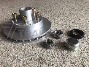 Kodiac Disc Hub 10'' 7/8 Ventilated Ford/US 1.8 Tonne Bearings