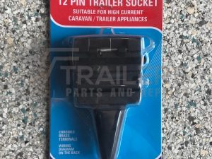 12 Pin Flat Trailer Socket  Plastic