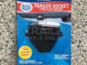 7 Pin Flat Trailer Socket Plastic