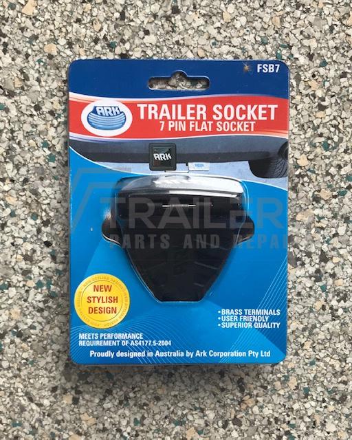 7 Pin Flat Trailer Socket Plastic