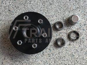 Landcruiser Lazy Hub Black Parallel 6 Stud SL/Ford Bearings
