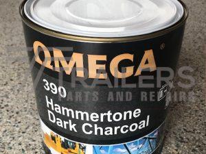 Hammertone 390 Industrial Paint 4L Tin Black