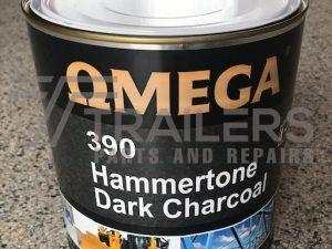 Hammertone 390 Industrial Paint 4L Tin Dark Charcoal