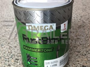 Hammertone RustBlock 1L Tin Dark Charcoal