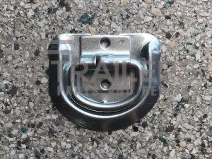 Lashing D Ring Zinc with 2 x 6mm Holes 30mm Apart
